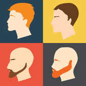 Male faces — Stock Vector