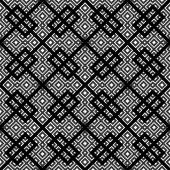 An elegant black and white, vector pattern — Stock Vector