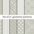 Set of ornamental patterns for backgrounds and textures — Stock Vector #79798152