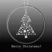 árbol de navidad de vector — Vector de stock
