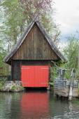 Boathouse Spreewald — Stock Photo