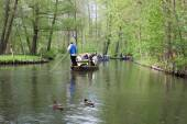 Ducks and boats on the canal — ストック写真