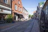 Rudkøbing alley — Stock Photo