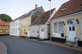 Townhouses Rudkøbing — Stock Photo