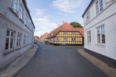 Half-timbered house Rudkøbing — Stock Photo