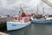 Blue fishingboat — Stock Photo