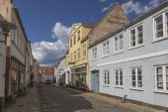 Rudkøbing side street — Stock Photo