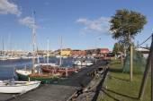 Rudkøbing port — Stock Photo