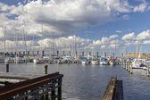 Bridge and Harbour — Foto de Stock