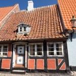 Narrow half-timbered house — Stockfoto #56632799