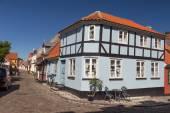 Timbered house corner — Stock Photo