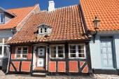 Narrow half-timbered house — Stock Photo