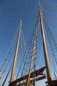 Iki gemi direkleri — Stok fotoğraf