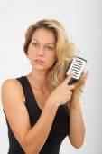 Haarbürste — Stock Photo