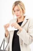 Invoice tear — Stock Photo