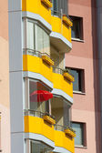 Yellow balconies — Stock Photo