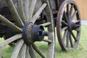 Two carriage wheels — Stock Photo