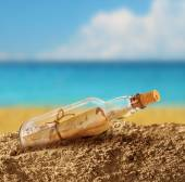 Message in the bottle — Stock Photo