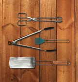 Barbecue tools set — Stock Photo