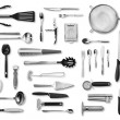 Kitchen equipment and cutlery set — Stock Photo #53845519