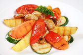 Grilled vegetable and mushrooms — Stock Photo