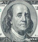 Sad Benjamin Franklin portrait — Stock Photo