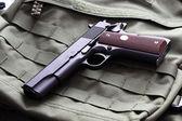 Semi-automatic .45 caliber pistol — Stock Photo