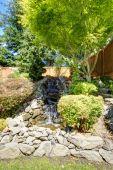 Beautiful landscape design for backyard garden — Stock Photo