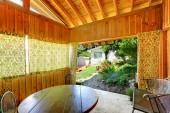 Interiér domu dřevěný letní — Stock fotografie