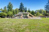 Large neighborhood playground for kids — Stock Photo