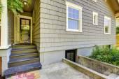 Backyard small porch. House exterior design — Stock Photo