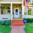Classic american house with flag — Stock Photo #52822115
