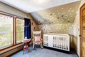 Nursery room with murals — Stock Photo