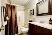 Bathroom with brown elements — Stock Photo