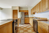 Kitchen room. Empty studio. Apartment residential building in do — Stock Photo