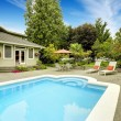 House with swimming pool. Real estate in Federal Way, WA — Stock Photo #52899983