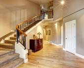 Hallway with staircase in luxury house — Stock Photo