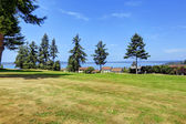 Beautitul landscape with water view. Federal Way, WA — Stock Photo