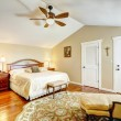 Warm bedroom interior with antique funiture — Stock Photo #53416511