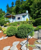House with beautiful curb appeal. Port Orchard town, WA — Stock Photo