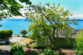 House with water front view. Port Orchard town, WA — Stock Photo