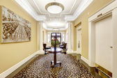 Long hallway in luxury residential building. Tacoma, WA — Stock Photo