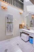Corner with vanity cabinet — Stock Photo