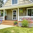 House with cozy entrance porch — Stock Photo #54251559