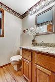 Restroom interior with wallpaper — Fotografia Stock