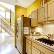 Small kitchen area with moden cabinets — Stock Photo #54399159