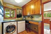 Craft room with laundry area — Stock Photo
