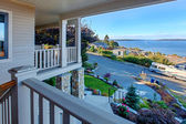 Puget sound view from house walkout deck, Tacoma, WA — Stock Photo
