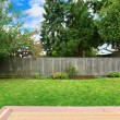 Backyard with old wooden fence — Stock Photo #55823217