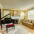 Luxury family room with grand piano — Stock Photo #55826055